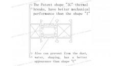 rupture thermique, rupture de pont thermique brevet IC, rupture thermique IC, châssis de fenêtre en aluminium, Solutions pour châssis de fenêtre en aluminium