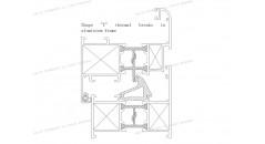 forme T rupture thermique, rupture de pont thermique, châssis de fenêtre en aluminium, Uf 2 . 5 K / m2K