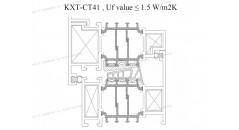 rupteurs thermiques, Uf 1,5 K / m2K, cadre de fenêtre en aluminium, Solutions pour châssis de fenêtre en aluminium