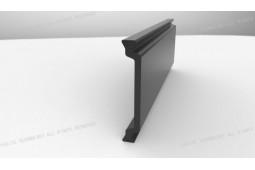 entretoise d'isolation thermique, Forme C de 34 mm d'entretoise d'isolation thermique, de profilés en aluminium thermo-isolant, une fenêtre d'aluminium d'isolation thermique...