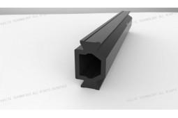 Creux HK 17 mm personnalisés barre de polyamide cassée thermique pour façade.  Utilisé sur le système de mur-rideau, ou dans le système de façade, et étant la partie du système de fenêtre d'économie d