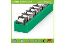 Guide de voie à chaîne à rouleaux, guide à chaîne pour ligne de production automatique, guide de chaîne TYPE TS, guide de voie à chaîne à rouleaux PA66, guide de chaîne PA66,