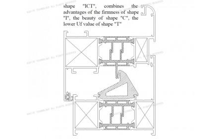 rupture thermique Uf 2.0 K / m2K brevet TIC   Solutions pour châssis de fenêtre en aluminium